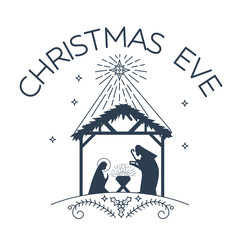 Happy Christmas Eve logo