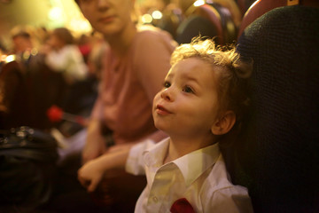 Boy in the theater