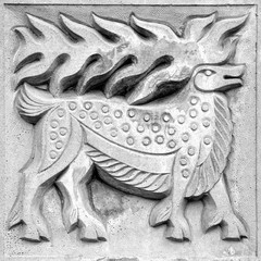 fabulous moose, bas-relief
