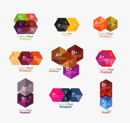 Geometric paper business infographics layouts