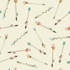 Boho arrows seamless pattern