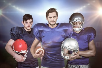 Composite image of american football team 3D