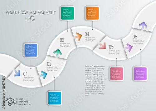 workflow timeline process chart vector graphics fotolia com の