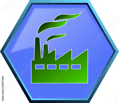 """Green industry icon"" Stock image and royalty-free vector ..."