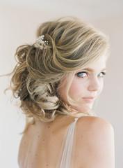Portrait of bride in bridal wear