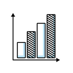 bars infographic isolated icon vector illustration design