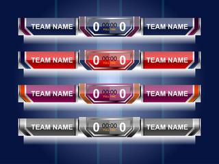 template scoreboard sports for football or soccer, vector illustration