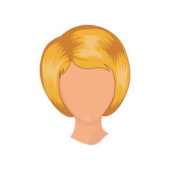 Woman head icon. Girl female avatar person people and human theme. Isolated design. Vector illustration
