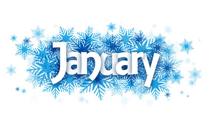 """JANUARY"" Vector Letters Icon"
