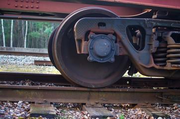 Railroad scene with cargo train