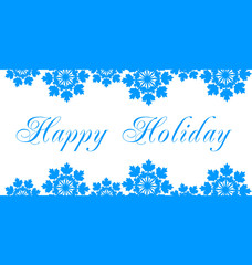 Happy Holidays vector illustration for holiday design