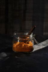 Rasam powder in jar