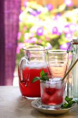 Hibiscus lemonade tea, still life