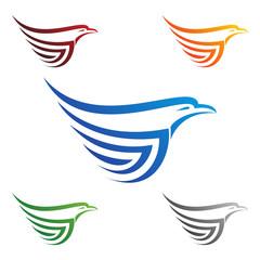 eagle, hawk, phoenix, vector logo design,