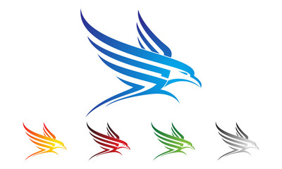 eagle, hawk, phoenix vector logo design,