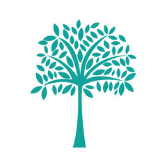 tree plant silhouette isolated icon vector illustration design
