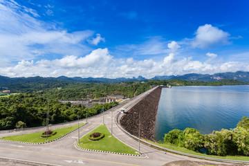 Landscape in Thailand Surat Tani. Ratchaprapha Dam.