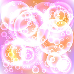 Lots of Bubbles Form an Abstract Color Background.