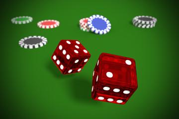 gambling game of dices