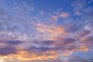 Sky and clouds / Sky and clouds at twilight.