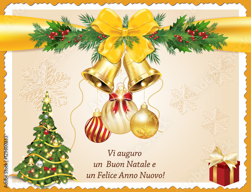 vi auguro un buon natale e un felice anno nuovo italian seasons greeting for - Merry Christmas And Happy New Year In Italian