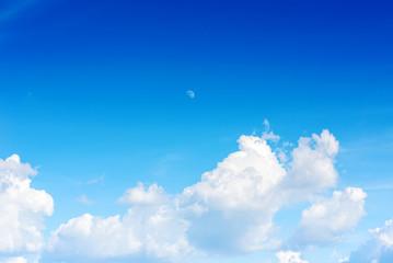 blue sky with rainy clouds
