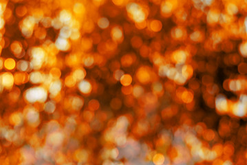 Abstract orange circular bokeh background