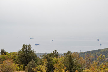 The ships of the sea from the top of the mountains