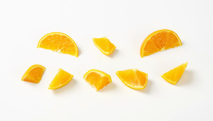 Fresh orange pieces