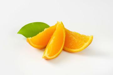 Fresh orange wedges