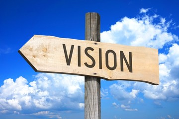 Vision - wooden signpost