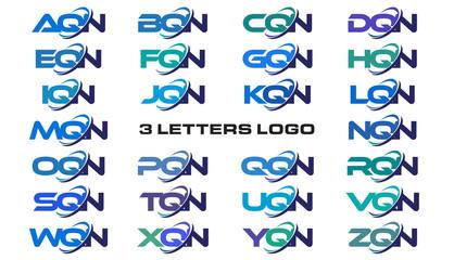 3 letters modern generic swoosh logo AQN, BQN, CQN, DQN, EQN, FQN, GQN, HQN, IQN, JQN, KQN, LQN, MQN, NQN, OQN, PQN, QQN, RQN, SQN, TQN, UQN, VQN, WQN, XQN, YQN, ZQN,