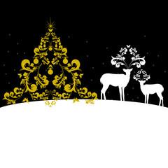 Christmas deer, holiday