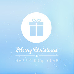Merry Christmas & Happy New Year Gift Icon