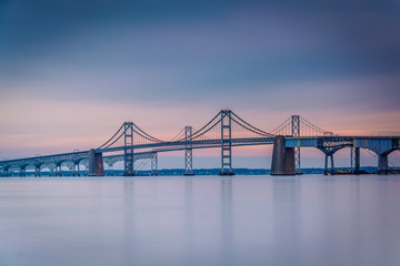 Long exposure of the Chesapeake Bay Bridge, from Sandy Point Sta
