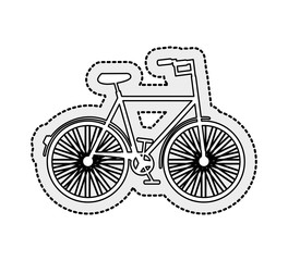 hipster style bicycle icon vector illustration design