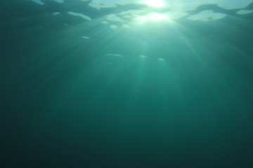 Underwater background in sea