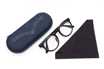 retro simple style eyeglasses set.