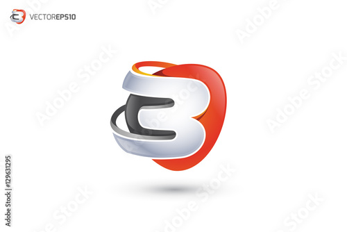 """B Logo - Abstract Letter B 3D Logo"" Stock image and ..."