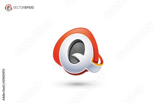 Vector  Q Logo -...Q Logo 3d