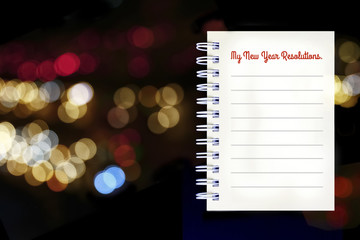 My new year resolution note on bokeh background.