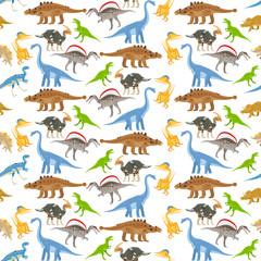 Dinosaur seamless pattern on transparent background vector illustration