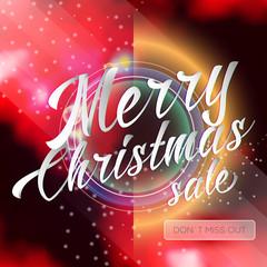 Merry Chrismas Sale Lettering Bright Banner