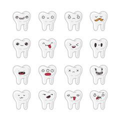 Set of cute teeth.