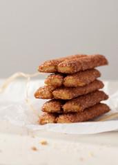 Homemade cinnamon sticks cookies with brown sugar.