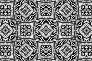 Black-and-white ornament with a gray tint. K
