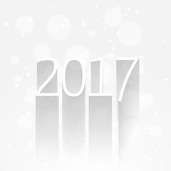 white new year 2017 background with long shadow