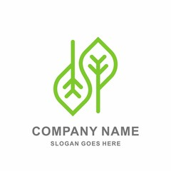 Infinity Organic Green Leaf Nature Farm Vegetables Agriculture Business Company Stock Vector Logo Design Template