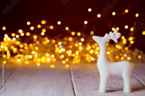 Weihnachten hintergrund dekoration mit rentier vor for Rentier dekoration