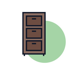 Drawer Icon Illustration Isolated vector Sing Symbol